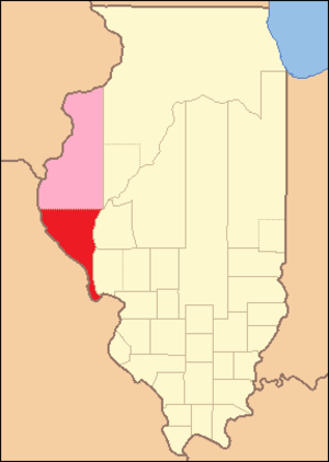 Pike County, Illinois - Image: Pike County Illinois 1823
