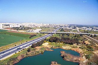 Highway 2 (Israel) - Highway 2 nearby Netanya.
