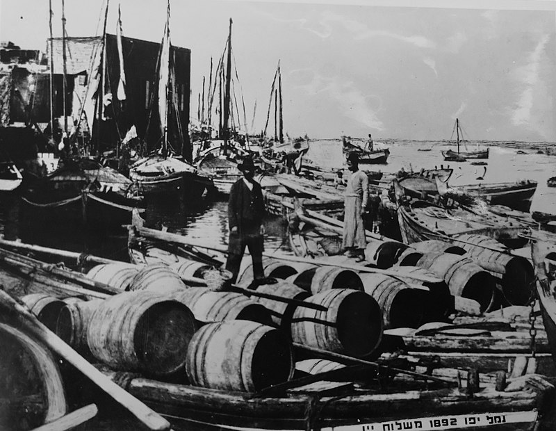 חביות יין בנמל