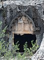 Pinara Ancient Lycian City Fethiye Turkey several Rock Tombs detail.jpg