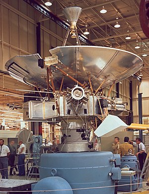 Pioneer program - Pioneer 10, undergoing construction in 1971. Pioneer 10 and 11 are the most famous probes in the Pioneer program, the first probes to visit the outer planets, and the first to go beyond the orbit of Pluto.