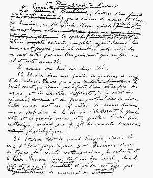 Les Rougon-Macquart - Letter by Zola to his publisher