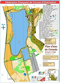 Carte de Course d'Orientation du Plan d'eau du Canada à Beauvais (France) n°2008-D60-56