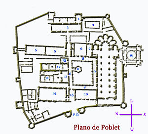 Poblet Monastery - Image: Plano Poblet 224