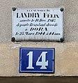 Plaque Félix Landry, 14 place Gambetta, Bergerac.jpg