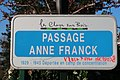 Plaque passage Anne-Franck, Les Clayes-sous-Bois, Yvelines.jpg