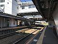 Platform of Shin-Tosu Station (Nagasaki Main Line).jpg
