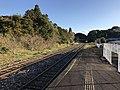 Platform of Toyotsu Station (Tagawa Line) 1.jpg