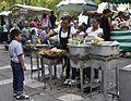 Plaza Solidaridad en Cuauhtémoc - Grilled corn - 1.JPG
