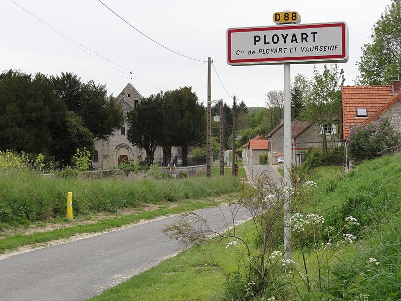 Ployart-et-Vaurseine (Aisne) city limit sign Ployart