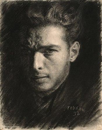 Władysław Podkowiński. Self-portrait, 1892