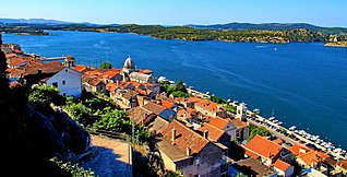 Šibenik City in Šibenik-Knin, Croatia