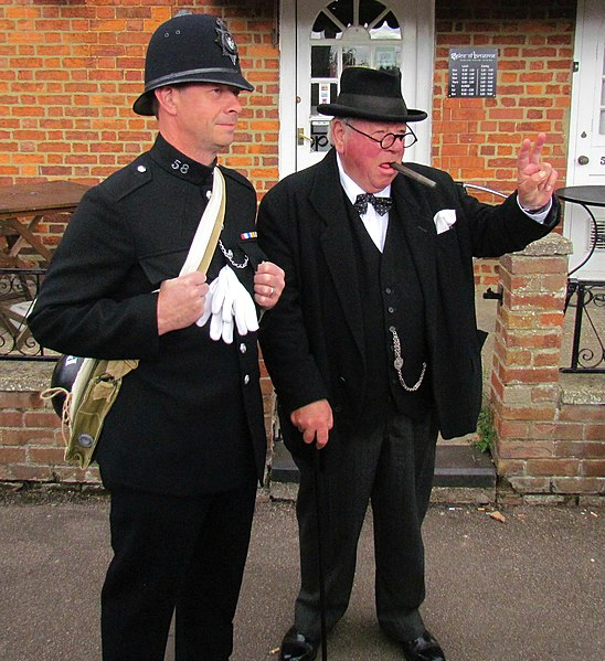 File:Policeman & Winston Churchill (8037262861).jpg