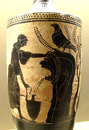 Fountain - Attic Greek vase from South Italy, about 480 B.C.