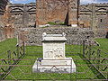 Pompeii Temple of Vespasian altar.jpg