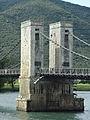 Pont du Robinet sur le Rhône, Donzère, pile centrale ouest.JPG