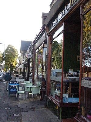 Pontcanna - Row of cafés on Pontcanna Street.