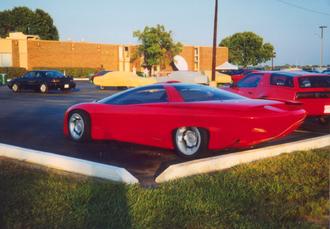 Pontiac Banshee - Pontiac Banshee parked outside the Dayton airport hotel, mid 90's.