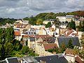 Pontoise (95), le Carmel, vue depuis le jardin des Cinq Sens (rocher du château).jpg