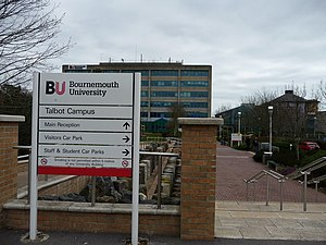 English: Poole : Bournemouth University Entran...