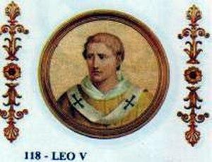 Pope Leo V - Image: Pope Leo V