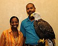 Posing for picture with Bald Eagle. (10594491046).jpg