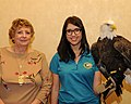 Posing for picture with Bald Eagle. (10597209553).jpg