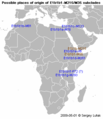 Possible places of origin of E1b1b1-M215M35 subclades.png