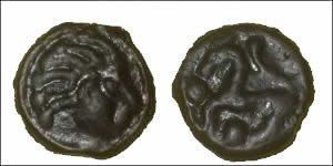Potin Celtic Coin (Senones of Gallia ) LT.7417