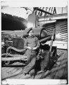 Powder monkey by gun of U.S.S. New Hampshire off Charleston, S.C. LOC cwpb.03515.tif