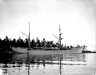 USS Albatross (1882) - Schooner Albatross at anchor in Alaska