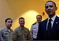 President Barack H. Obama, right, addresses the Joint Task Force-National Capital Region (JTF-NCR) staff in Washington, D.C 130117-A-DH167-056.jpg