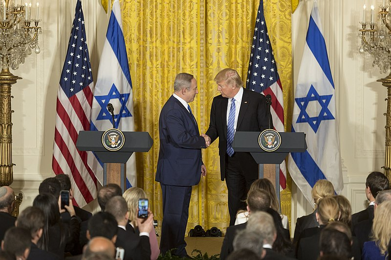 File:President Donald Trump and Prime Minister Benjamin Netanyahu Joint Press Conference, February 15, 2017 (02).jpg