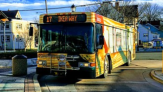 TheBus (Prince George's County) - Gillig LF Diesel in Route U.S. 1 Ride Wrap on The Bus Route 17: Mount Rainier
