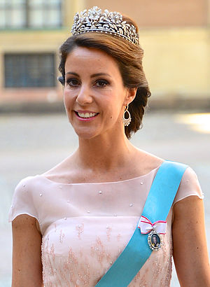 Princess Marie of Denmark - Princess Marie at the wedding of Princess Madeleine of Sweden, 8 June 2013