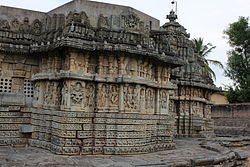 The Mallikarjuna temple at Basaralu, built in 1234 during the reign of Hoysala King Vira Narasimha II