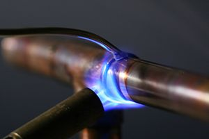Solder - Soldering copper pipes using a propane torch and lead-free solder