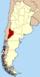 Lage der Provinz Neuquén