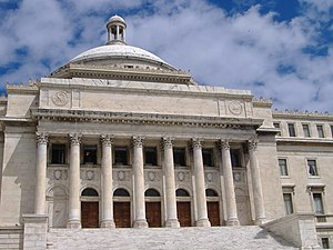 South view of the Puerto Rico Capitol in San Juan.