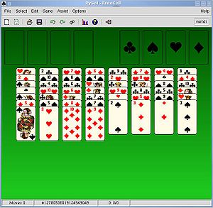 FreeCell party with the free video game PySol.