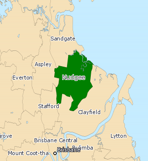 Electoral district of Nudgee - Electoral map of Nudgee 2008