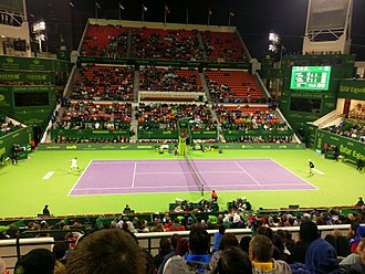 Khalifa International Tennis and Squash Complex - Image: Qatar open 2017 SF, Murray vs Berdych 1183