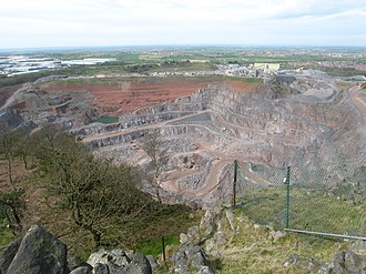 Bardon Hill - Looking down from the Hill onto Bardon Quarry