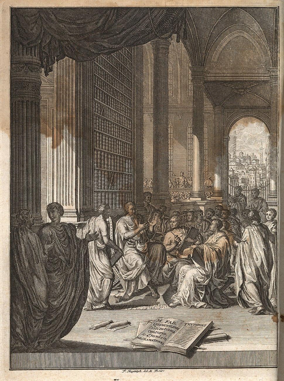 Quintilian, Institutio oratoria ed. Burman (Leiden 1720), frontispiece