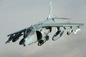 Attack aircraft - RAF Harrier GR9 in flight, 2008