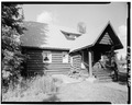 REAR, LOOKING NORTH - Mount McKinley Headquarters, Superintendent's Residence, Cantwell, Denali Borough, AK HABS AK,23-MCKIN,1-E-3.tif
