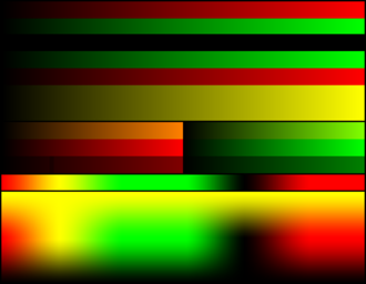 RG color space - Image: RG 16bits palette color test chart