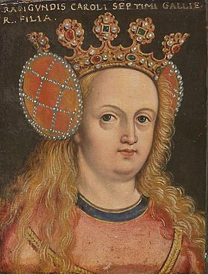 Radegonde of Valois - Image: Radegund of France. daughter of Charles VII