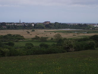 Radipole Lake - Radipole Lake viewed from Southill. Weymouth town centre can be seen in the distance.