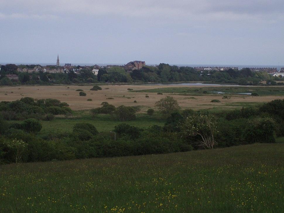 Radipole Lake, Weymouth viewed from Southill